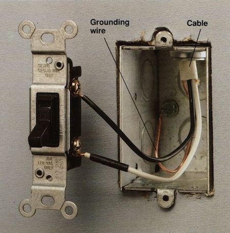 How to wire a single wire light switch diagram