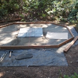 Centering patio blocks