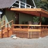 Back deck lattice