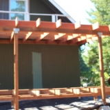 Back deck roof framing 2