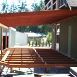 Back deck framing side