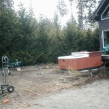 before hot tub location