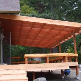 Back deck side view