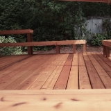 Back cedar decking