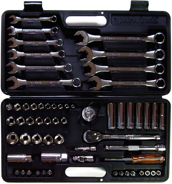 Metrinch Socket Set Open Case 62-piece