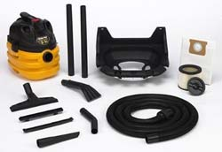 Shop Vac with wall mount and accessories